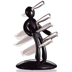LOL!!  This is the funniest knife holder named The Ex by designer Raffaelo Iannello