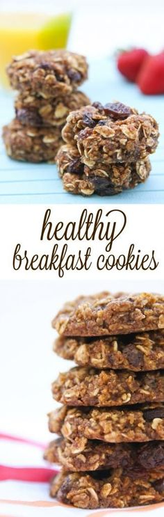 Healthy breakfast cookies - so freaking good! For more healthy breakfast ideas visit http://www.smaggle.com/2015/02/13/the-5-healthiest-breakfast-cereals-you-can-eat/