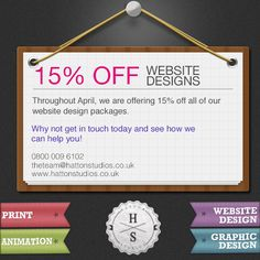 Discount on web design packages