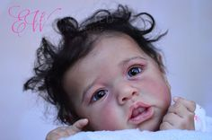 AA biracial reborn baby girl doll Saskia by Bonnie Brown,  SO BEAUTIFUL !