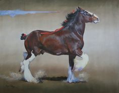 Clydesdale Horse painting by Margo Petterson