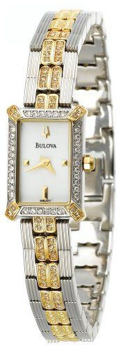 Women's Wrist Watches - Bulova Womens 98L107 Crystal Watch * Details can be found by clicking on the image.