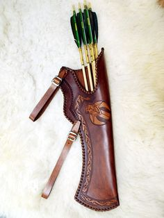 Handmade+leather+quiver
