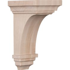 Ekena Millwork 4-in x 8-in Brown Jefferson Wood Corbel