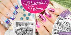 #shell   #palm   #summer   #nails   #nailart   Muscheln und Palmen machen jeden Sommer-Look komplett. Hier seht Ihr einige Ideen, um die beiden Motive in Form von Tattoos, Stamping oder Strass auch auf Euren Nägeln zu präsentieren. Eure Martina