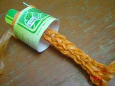 Corded plarn. I have and idea for some traditional rope sandals, made from plarn cords.