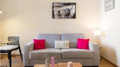 Les Citadelles 1 - Holiday Apartment in Cannes Holiday Apartments, Vacation Apartments, Cannes France, 1 Bedroom Apartment, Sofa, Couch, Holidays And Events, Love Seat, Centre