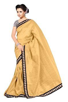 Beautiful Beige Color #Saree