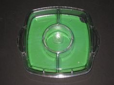 Pampered Chef Cool and Serve Tray Vegetables Green Veggie Chips & Dip 8''x8'' #PamperedChef