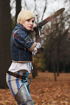 For the Blue Stripes! (Ves, The Witcher Cosplay) by ayu-ai