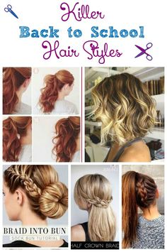 Catch a few extra zzzs in the morning with these totally killer yet insanely easy back to school hair styles. We've covered all hair types!