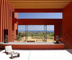 Cement Plaster and Color - The Sotogrande House by Francisco Cortina & Ricardo Legorreta