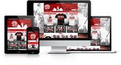 Strona responsywna zaprojektowana i wykonana przez WiWi dla sklepu internetowego Patria Nostra z odzieżą patriotyczną