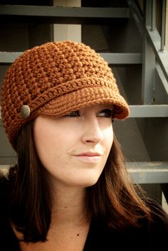 READYTOSHIP Women's Brimmed Beanie  Light Brown by OliJAccessories, $25.00