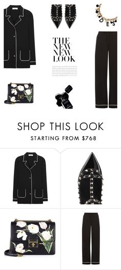 """""""On Trend - Valentino Pyjama Style"""" by canvas-moods ❤ liked on Polyvore featuring Valentino, Chanel and Dolce&Gabbana"""
