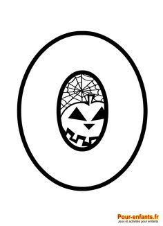 Halloween. Le chiffre 0 à imprimer en grand.