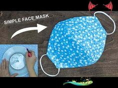 Make Fabric Face Mask at home   DIY Face Mask No Sewing Machine   Easy Face Mask Pattern DIY Fabric Face Mask Using Plate + Video   Fabric Art DIY<br> Easy Face Masks, Diy Face Mask, Simple Face, Easy Sewing Patterns, Diy Mask, Fabric Art, Writing Inspiration, Pattern Making, Hand Stitching