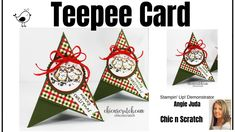 Teepee Card Fancy Fold Cards, Folded Cards, Snowflake Cards, Card Tutorials, Winter Theme, Crafty Projects, Stampin Up Cards, Cardmaking, Christmas Crafts