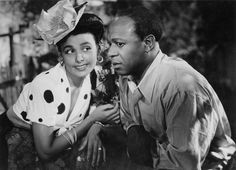"Lena Horne and Eddie (""Rochester"") Anderson in Cabin in the Sky  (1943), directed by Vincente Minnelli.  Vintage African American photography courtesy of Black History Album, The Way We Were.  Follow Us On Twitter @blackhistoryalb"