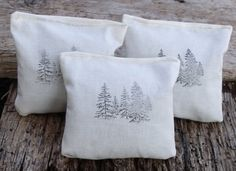 Balsam Scented Satchels, great for dresser drawers and closets. Natural woodland scent. Great gifts. By plumbdesigns