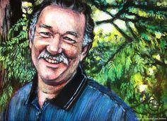 """(c) Alisha Lee Jeffers. """"R Portrait."""" Acrylic on birch. 5""""x 7"""""""