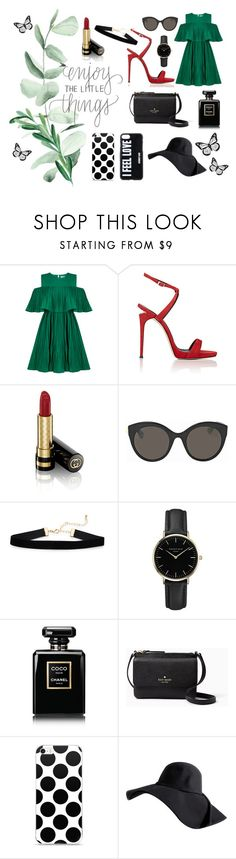 """Enjoy The Little Things"" by beerrks ❤ liked on Polyvore featuring Jovonna, Giuseppe Zanotti, Gucci, ROSEFIELD, Chanel, Kate Spade and Givenchy"