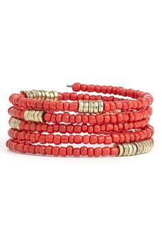 Stephan & Co. Coil Bracelet available at #Nordstrom -- Just make it using memory wire. Very easy to do!