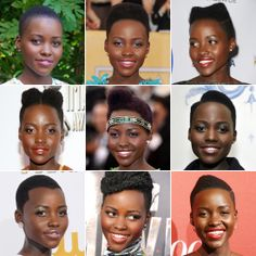 Short hairstyling ideas from Lupita Nyong'o! #shorthair #hairstyle eSalon.com