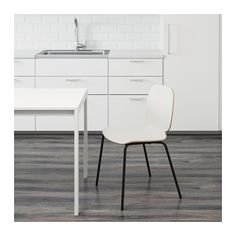 SVENBERTIL Chair, white, Broringe black