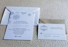 Winter Snowflake Wedding Invitation