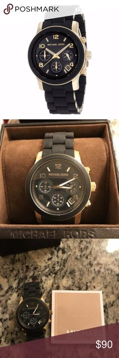 Michael Kors Runway Black Dial Women's Watch MK519 Given as a gift - barely worn. Excellent quality!! Michael Kors Accessories Watches
