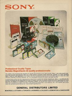 vintage everyday: Sony Catalogues of The 1970s