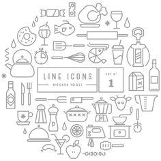 Free Download : Line Icon Sets (outdoor,kitchen)