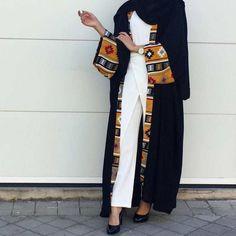 Dubai Women Vintage Open Cardigan Robe Kaftan Muslim Abaya Cocktail Maxi Dress in Clothing, Shoes & Accessories, Women, Women's Clothing, Dresses Islamic Fashion, Muslim Fashion, Modest Wear, Modest Outfits, Abaya Fashion, Kimono Fashion, Tribal Fashion, Mens Fashion, Maxi Floral