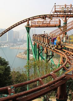 Have u been on this ride @ ocean park? It's awesome and creates butterflies in your stomach because there are so many drops. PS! If your shorter 4 your age, this ride is perfect 4 u!