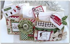 Holiday Paper Bag Pockets Could use to hold journalling on a scrapbook page.