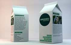Creative Resumes-Carton of milk. Potential employers are offered up a creative lunch box with a milk carton CV. Cv Design, Graphic Design Tips, Resume Design, Graphic Design Branding, Design Packaging, Design Ideas, Diu, Great Resumes, Resume Ideas