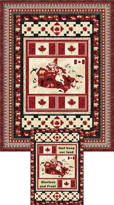 Glorious and Free - Twin Quilt Kit Flag Quilt, Patch Quilt, Quilt Blocks, Quilt Top, Canadian Quilts, Quilts Canada, Patriotic Crafts, Patriotic Quilts, Quilt Of Valor