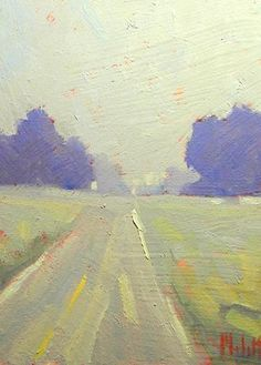 Heidi Melott---I like those periwinkle trees and the atmospheric quality....