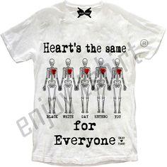#enjoytshirt #NORACISM #NOHOMOPHOBIA #heartsthesameforeveryone