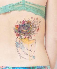 Awesome watercolour tattoo | Tattoomagz.com
