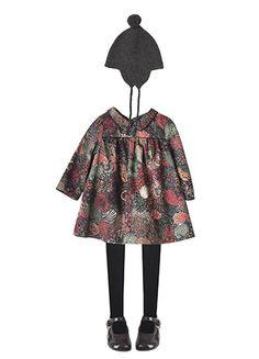 Tights Black Hat Dark Grey Marl Teali Dress Multicoloured Print Start-rite for Bonpoint Mary Janes Liquorice