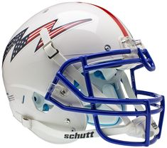 "Air Force Falcons Authentic College XP Football Helmet Schutt ""Flag Bolt with Stripe"""
