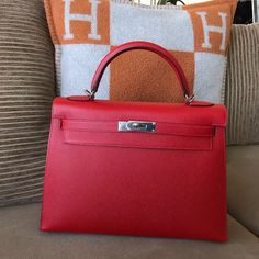 Hermes Kelly32 Rouge Casaque Epsom Sellier phw T 631d888834195