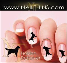 Golden Retriever NAILTHINS Silhouette Nail Decal