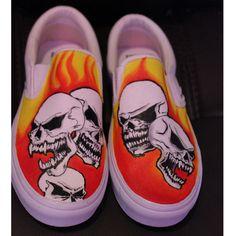 custom canvas shoes Skulls Vans slipon Painted Converse, Painted Sneakers, Hand Painted Shoes, Shoe Art, Art Shoes, Everyday Shoes, Unique Christmas Gifts, Custom Canvas, Custom Shoes