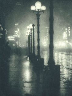 Night lights, Alvin Langdon Coburn