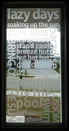 Vinyl that looks like etched glass.~  Get your etched glass vinyl supplies at http://cricketvinylsupplies.com/-c-68