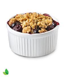Blackberry and Blueberry Oat Crisp