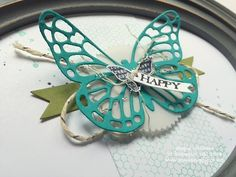 Stampin up butterfly basics thinlits home decor
